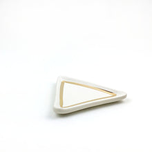 Load image into Gallery viewer, White and Gold Triangle Dish
