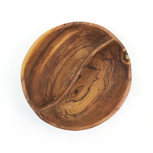 Wild Olive Wood Duet Serving Bowl