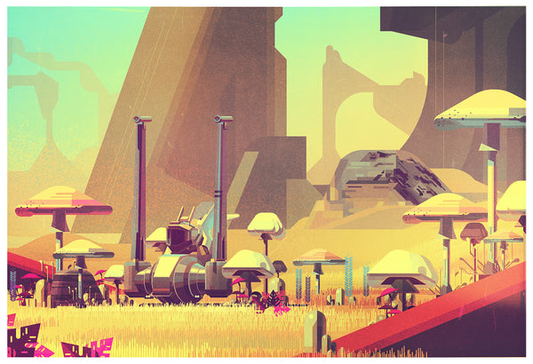 "James Gilleard ""Mushrooms"" Print"