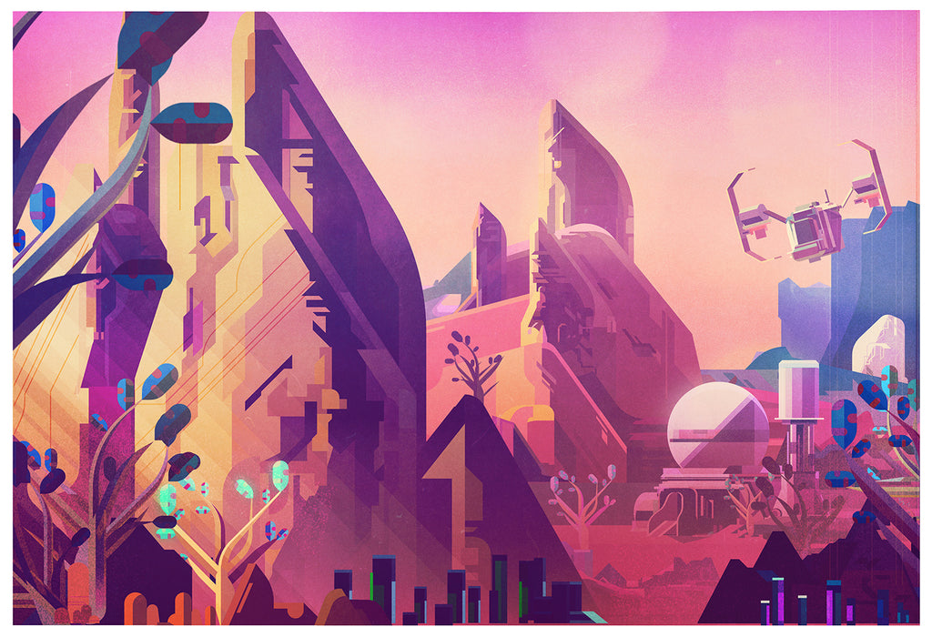 "James Gilleard ""Base"" Print"