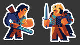 "Tom Whalen ""Ashley Vs Evil Ashley"" Sticker Set"