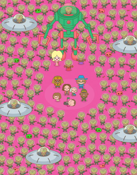 "100% Soft ""Mars Attacks"" Print"