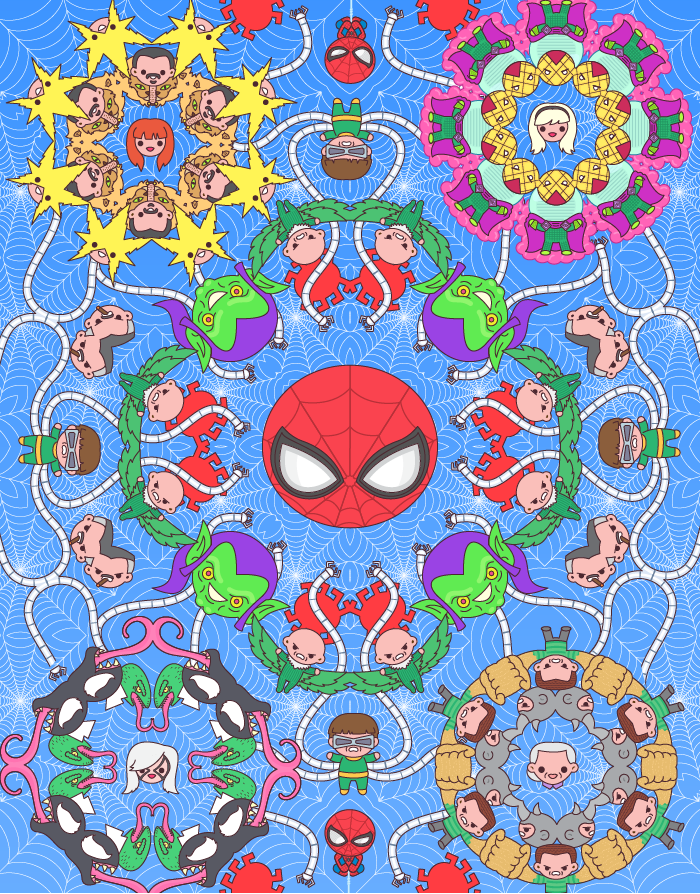 "100% Soft ""Spider-Man"" Print"