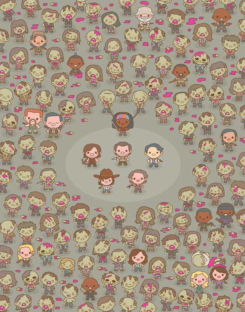 "100% Soft ""Walking Dead"" Print"