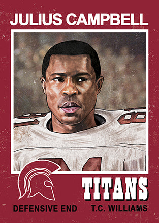 "Cuyler Smith ""117 - Julius Campbell"" Trading Card"