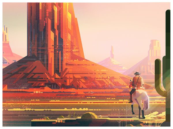 "James Gilleard ""Wild West"" Print"