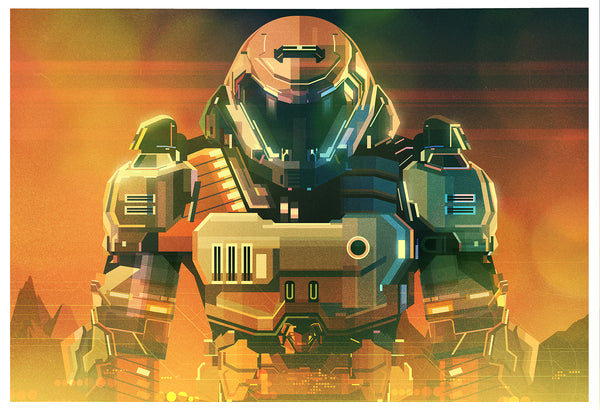 "James Gilleard ""Doom Guy"" Print"