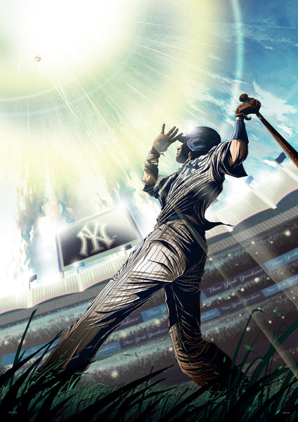 "17th and Oak ""Home Run at Yankee Stadium"" Print"