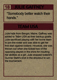 "Cuyler Smith ""18 - Julie Gaffney"" Trading Card"