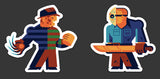 "Tom Whalen ""Springwood Vs Crystal Lake"" Sticker Set"