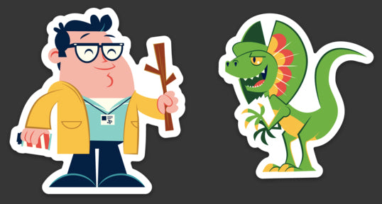 "Dave Perillo ""Dennis Vs Dilo"" Sticker Set"
