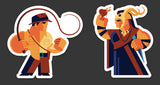 "Tom Whalen ""Dr. J Vs The Priest"" Sticker Set"