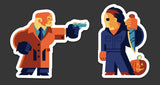 "Tom Whalen ""Sam Vs Mike"" Sticker Set"