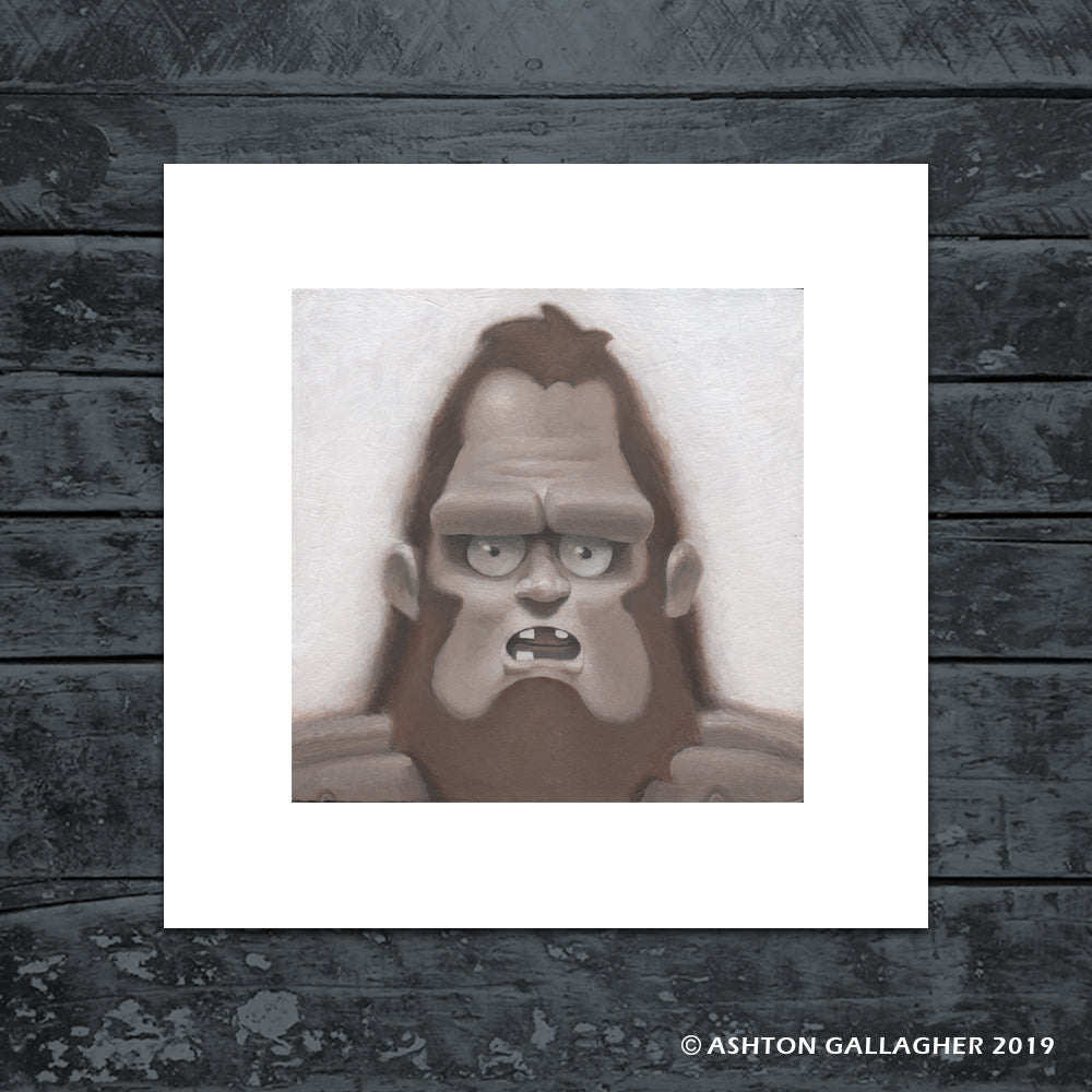 "Ashton Gallagher ""Beefsquatch"" Print"