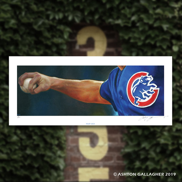 "Ashton Gallagher ""Bleed That Cubbie Blue"" Print"