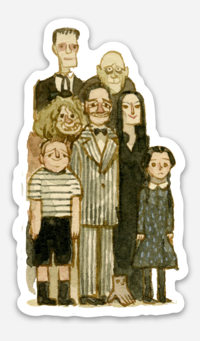 ".Scott C. ""Addams Family Showdown"" Sticker"