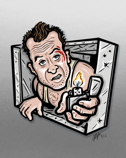 "Brad Albright ""John McClane in an Air Vent"" Print"