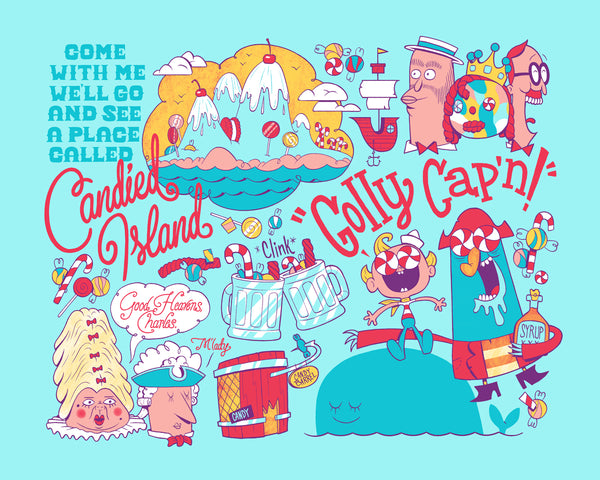 "Alex Riegert-Waters ""Golly Cap'n"" Print"