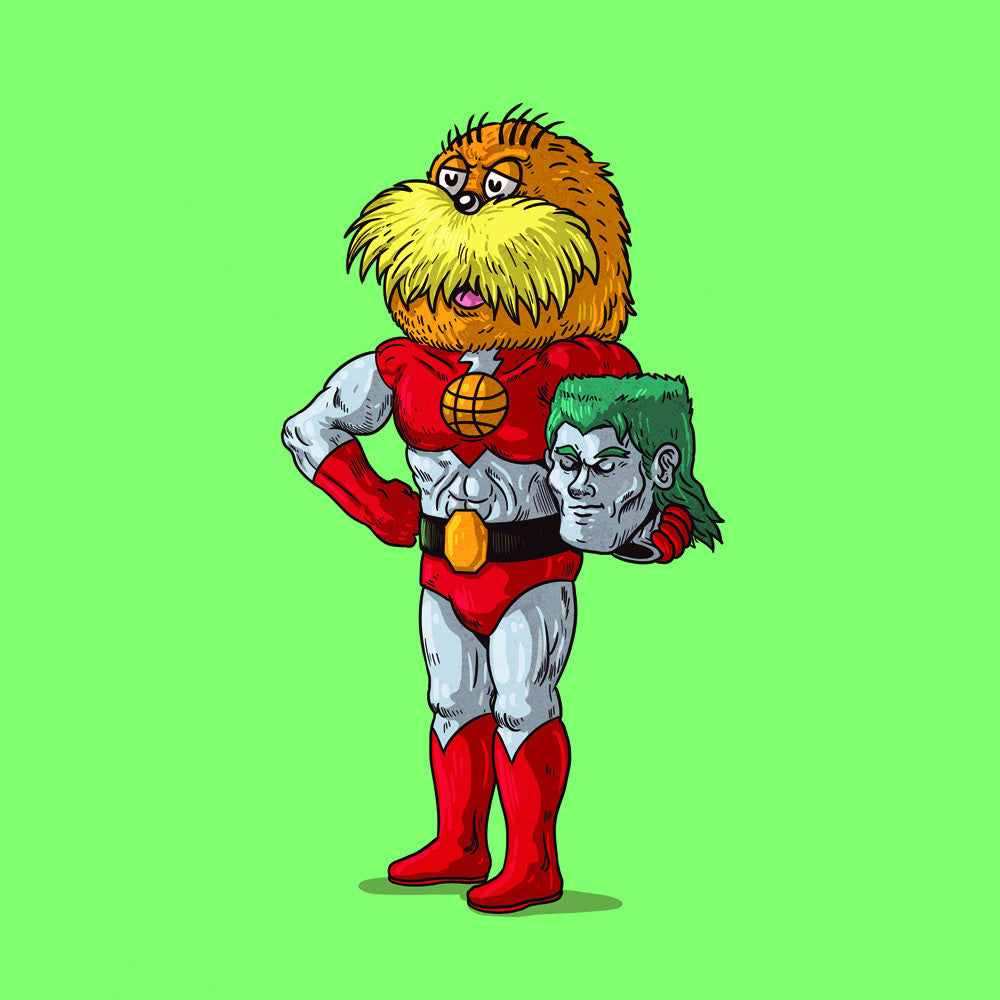 "Alex Solis ""Captain Planet Unmasked"" Print"