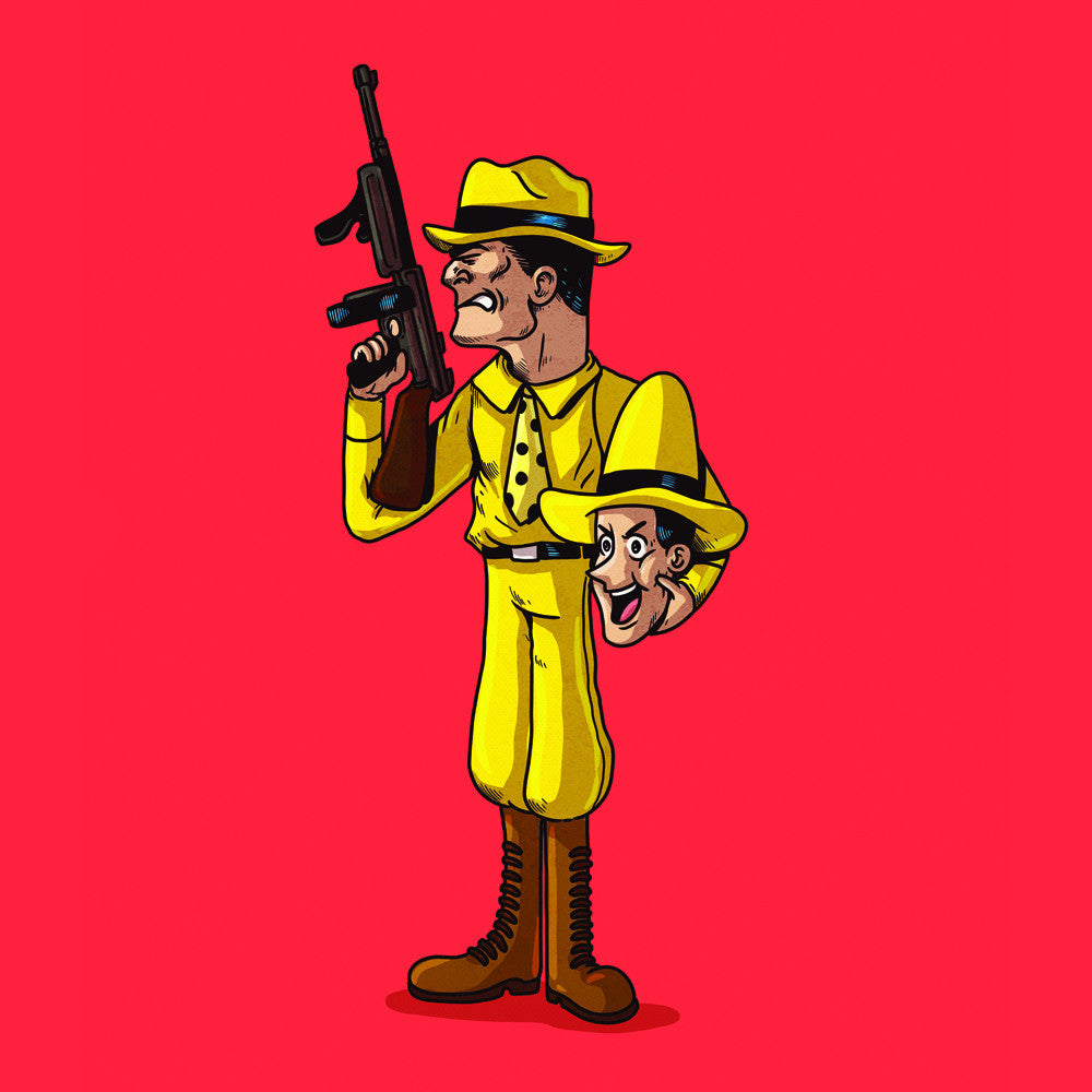 "Alex Solis ""Man in the Yellow Hat Unmasked"" Print"