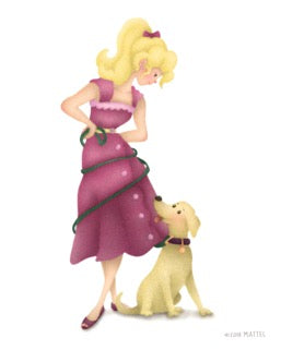 "Alexandria Gold ""Barbie #3: Tangled"" Print"