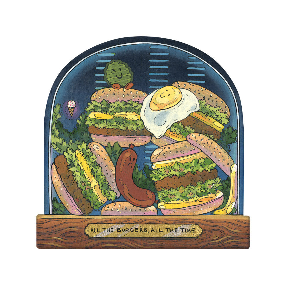 "Nicole Gustafsson ""All The Burgers, All The Time"" Print"