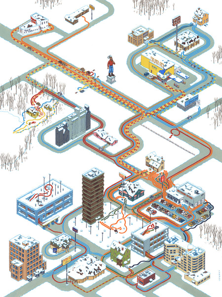 "Andrew DeGraff ""Paths of Fargo"" Print"
