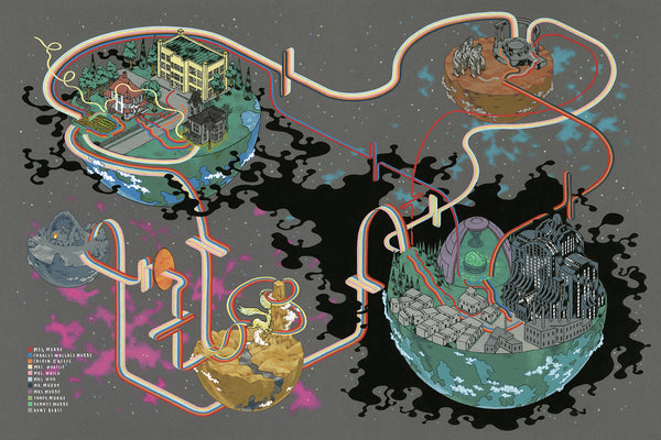 "Andrew DeGraff ""Paths of the Murrys"" Print"
