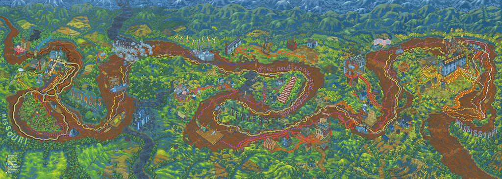 "Andrew DeGraff ""The Huckleberry Finn Triptych"" Print"