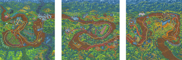 "Andrew DeGraff ""The Huckleberry Finn Triptych"""