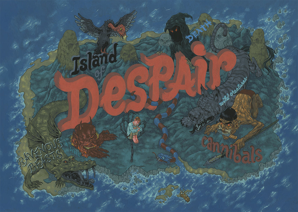 "Andrew DeGraff ""The Island of Despair, Night One"""