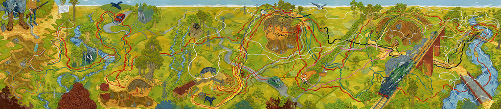 "Andrew DeGraff ""The Watership Down Triptych"" Print"