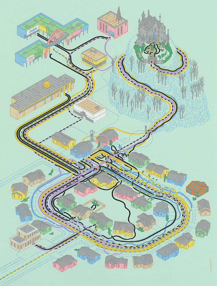"Andrew DeGraff ""Paths of Edward"" Print"