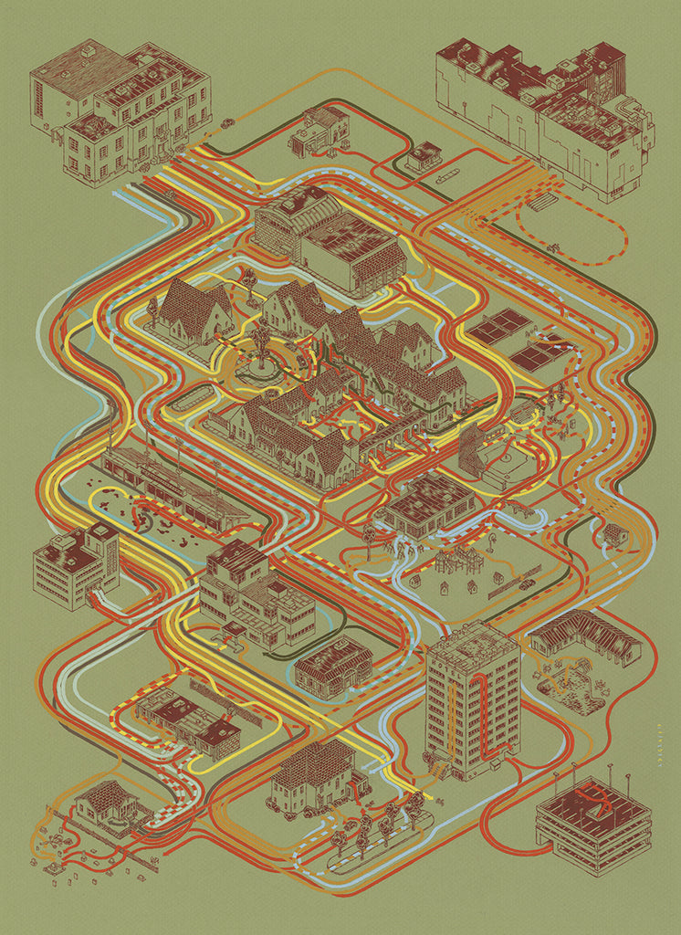 "Andrew DeGraff ""Paths of Rushmore"" Print"