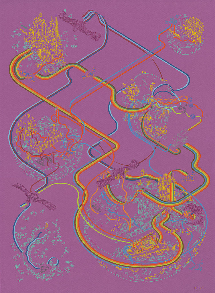"Andrew DeGraff ""Paths of the Guardians"""