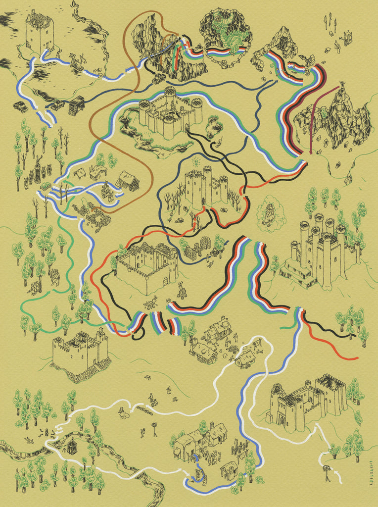 "Andrew DeGraff ""Paths of the Grail"" Print"