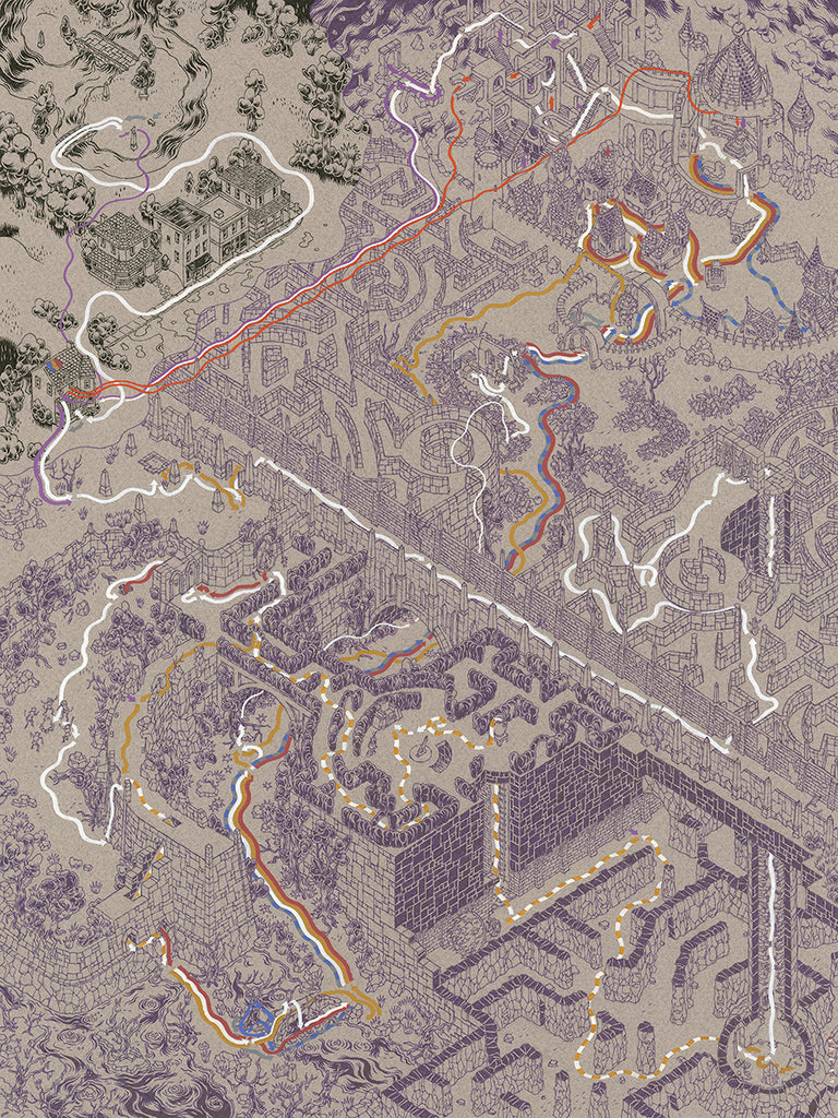 "Andrew DeGraff ""Paths of the Labyrinth"" Print"
