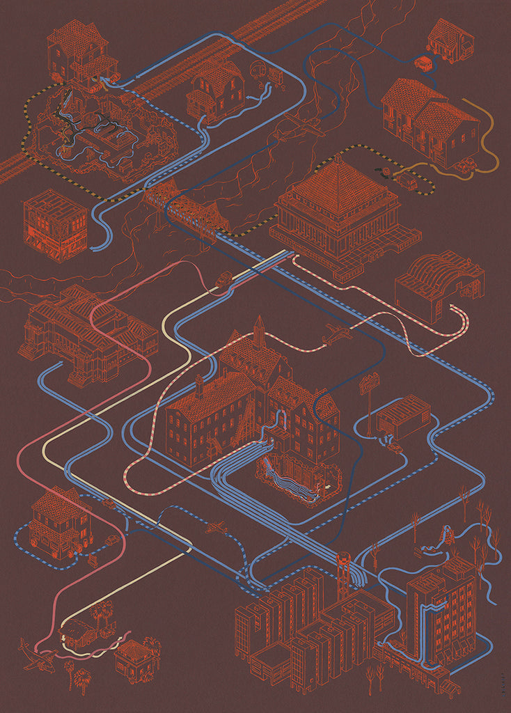 "Andrew DeGraff ""Paths of the Starling"" Print"