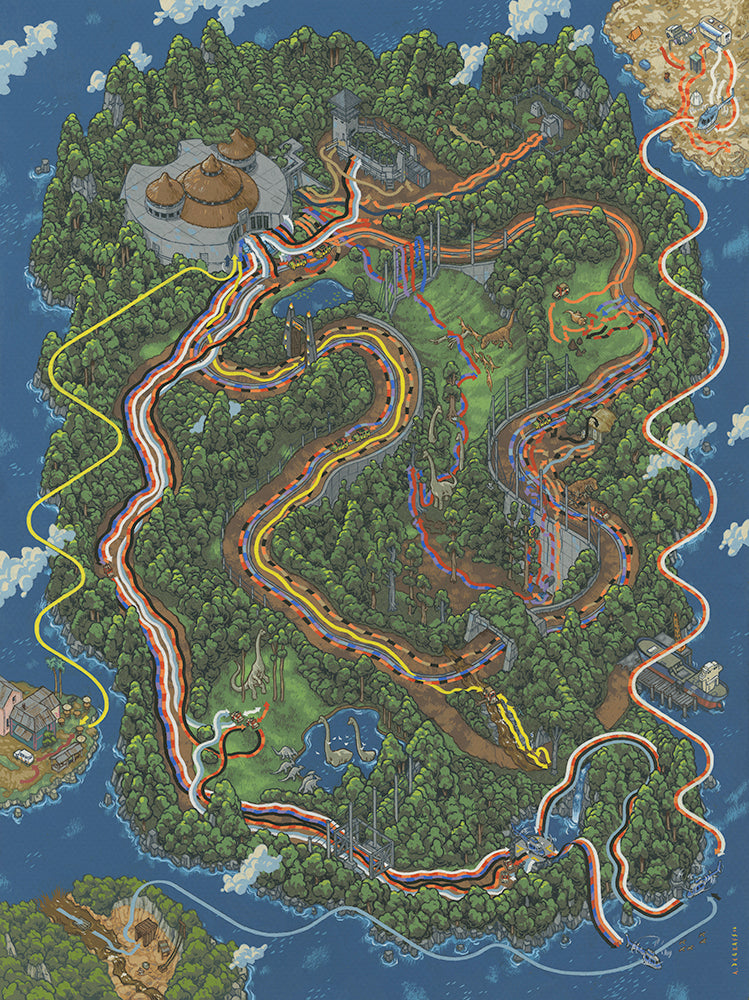 "Andrew DeGraff ""Paths of Isla Nublar"""