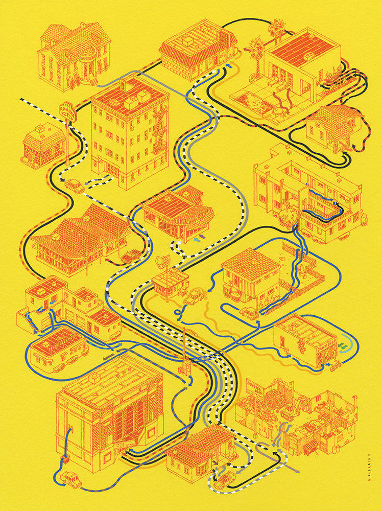 "Andrew DeGraff ""Paths of Fiction"" Print"