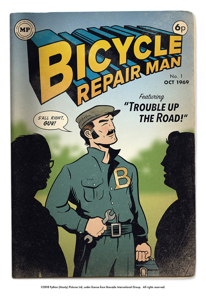 "Andrew O. Ellis ""Bicycle Repairman No. 1"" Print"
