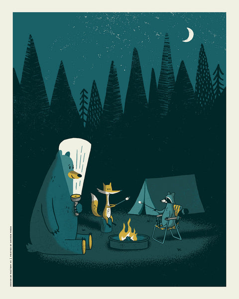 "Andrew Saeger (Factory 43) ""Camping Out"" Print"