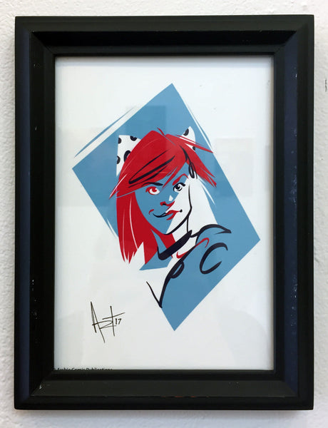 "Andrew (SchmandrewART) Thompson ""Josie"" Framed Print"