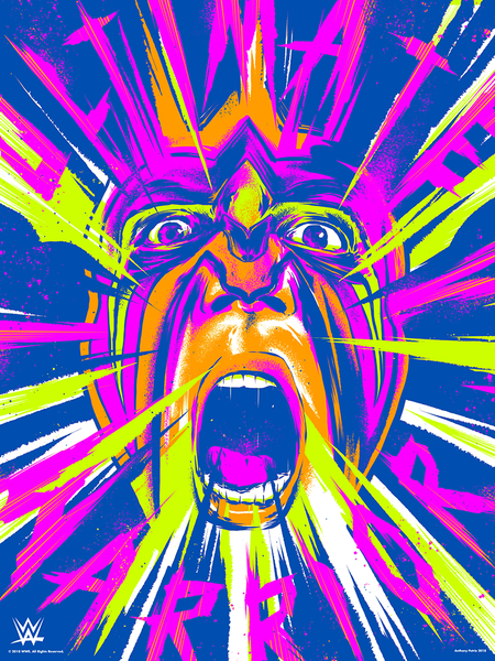"Anthony Petrie ""Ultimate Maniac Warrior"" Print"