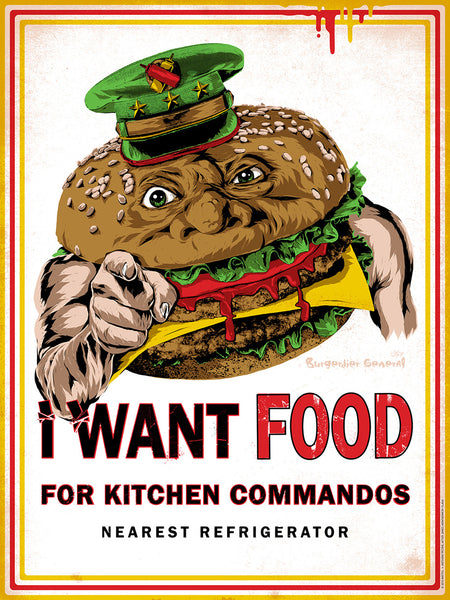 "Anthony Petrie ""I Want Food"" Print"