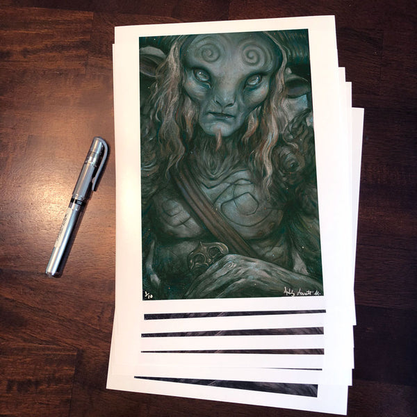 "Ashly Lovett ""The Faun"" Print"
