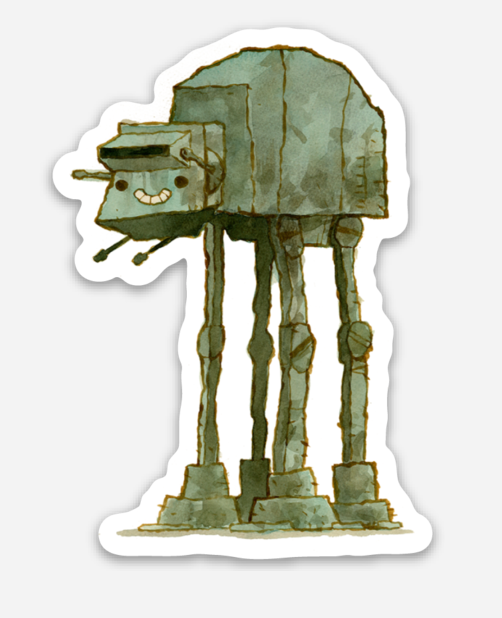 ".Scott C. ""AT-AT Showdown"" Sticker"