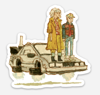 ".Scott C. ""BTTF2 Showdown"" Sticker"