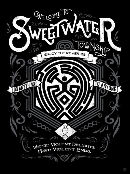 "Barrett Biggers ""Welcome to Sweetwater"" Print"
