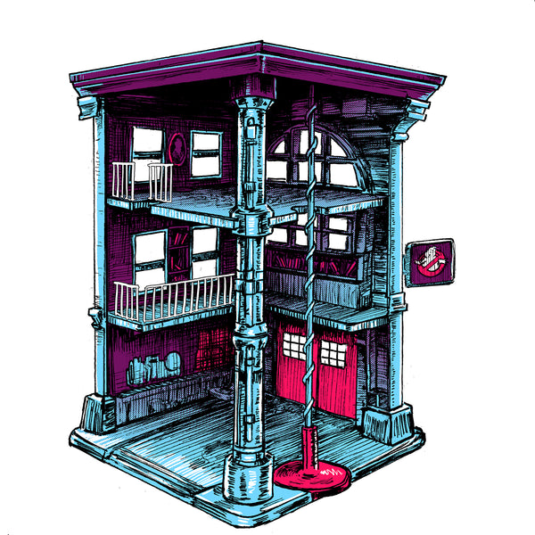 "Barry Blankenship ""Firehouse AKA The Best Toy Ever"" Print"